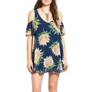 NWT Show Me Your MuMu Flower Cold Shoulder Dress
